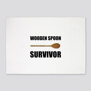 Wooden Spoon Survivor 5'x7'Area Rug