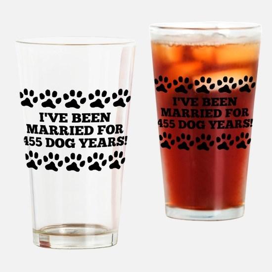 65th Anniversary Dog Years Drinking Glass