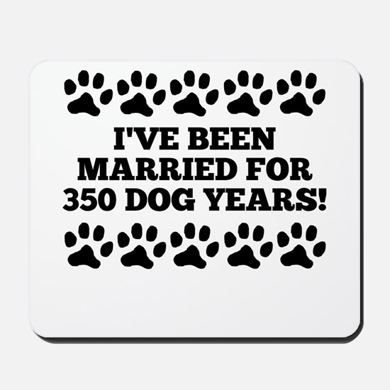 50th Anniversary Dog Years Mousepad