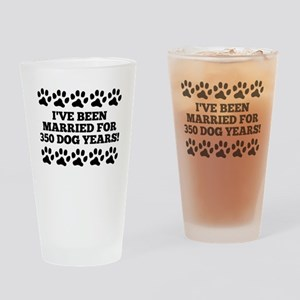 50th Anniversary Dog Years Drinking Glass