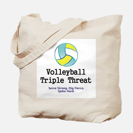 Volleyball Slogan Tote Bag