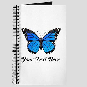 Blue Butterfly Custom Text Journal