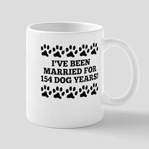 22nd Anniversary Dog Years Mugs