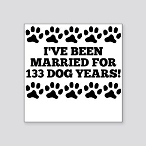 19th Anniversary Dog Years Sticker