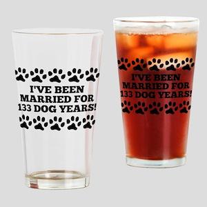 19th Anniversary Dog Years Drinking Glass