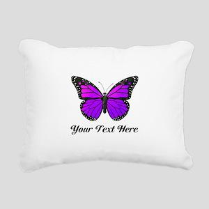 Purple Butterfly Custom Rectangular Canvas Pillow