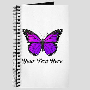 Purple Butterfly Custom Text Journal