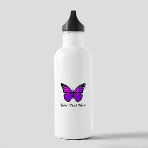 Purple Butterfly Custo Stainless Water Bottle 1.0L