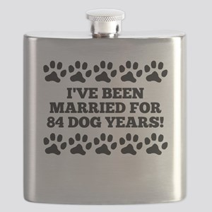 12th Anniversary Dog Years Flask