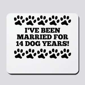 2nd Anniversary Dog Years Mousepad