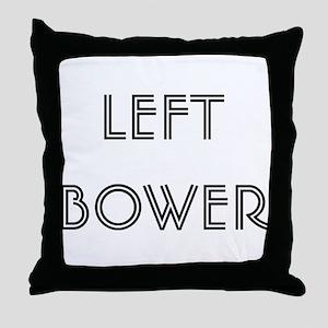 Euchre Left Bower Throw Pillow