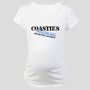 She who waits: Coastie's Swee Maternity T-Shirt