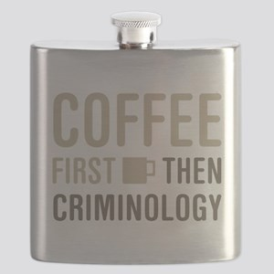 Coffee Then Criminology Flask