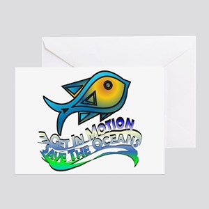 Save The Oceans Greeting Cards