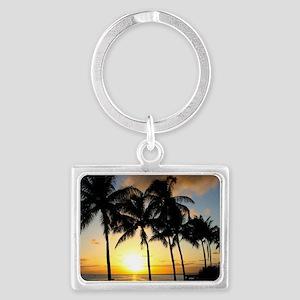 Tropical Beauty Landscape Keychain
