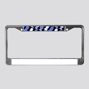Blue Black Abstract Jeremiah's License Plate Frame