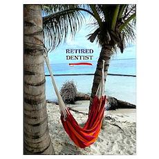 Retired Dentist, hammock under the palms Poster