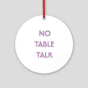 Euchre Table Talk Ornament (Round)