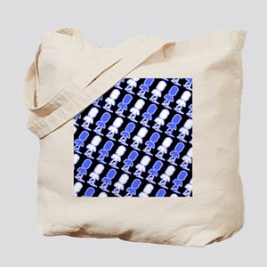 Blue Black Abstract Jeremiah's Fave Tote Bag