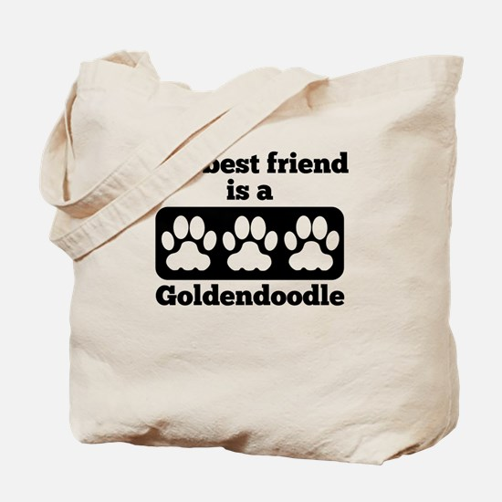 My Best Friend Is A Goldendoodle Tote Bag