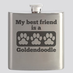 My Best Friend Is A Goldendoodle Flask