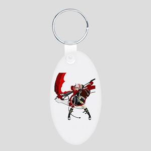 Runa Aluminum Oval Keychain