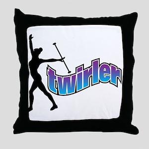 Twirler Throw Pillow
