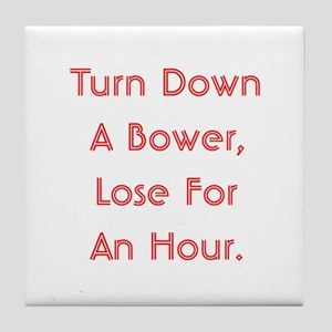 Turn Down Bower Tile Coaster