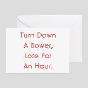 Turn Down Bower Greeting Card