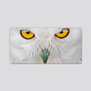 Owl with yellow eyes Aluminum License Plate