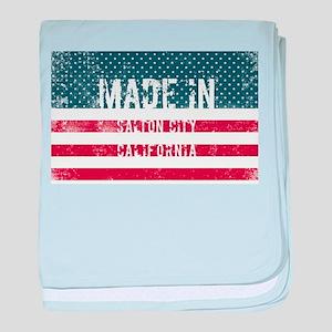 Made in Salton City, California baby blanket