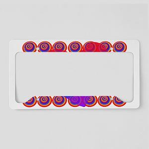 Rainbow Hearts License Plate Holder