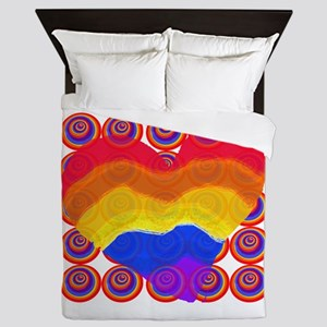 Rainbow Hearts Queen Duvet