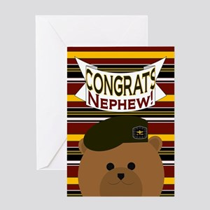 Ur Words Congrats Green Beret Greeting Cards