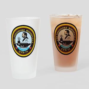 Uss Theodore Roosevelt Cvn 71 Drinking Glass