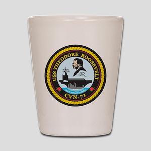 Uss Theodore Roosevelt Cvn 71 Shot Glass