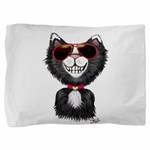 Black-White Cartoon Cat (sg) Pillow Sham