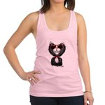Black-White Cartoon Cat (sg) Racerback Tank Top