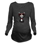 Black-White Cartoon Long Sleeve Maternity T-Shirt