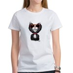 Black-White Cartoon Cat (sg) Women's T-Shirt