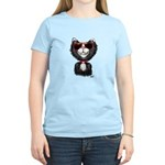 Black-White Cartoon Cat (sg) Women's Light T-Shirt