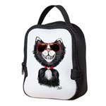 Black-White Cartoon Cat (sg) Neoprene Lunch Bag