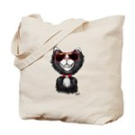 Black-White Cartoon Cat (sg) Tote Bag