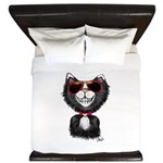 Black-White Cartoon Cat (sg) King Duvet