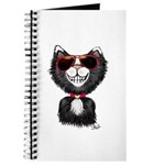 Black-White Cartoon Cat (sg) Journal