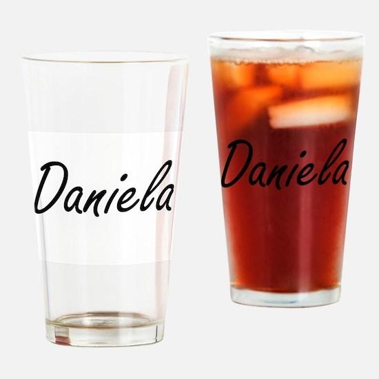 Daniela artistic Name Design Drinking Glass