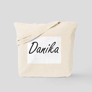Danika artistic Name Design Tote Bag