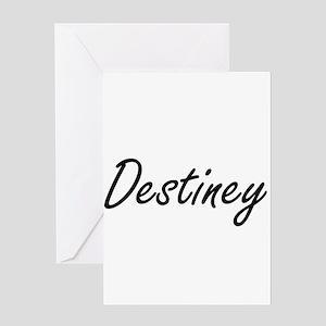Destiney artistic Name Design Greeting Cards