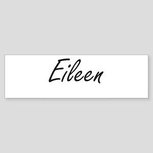 Eileen artistic Name Design Bumper Sticker