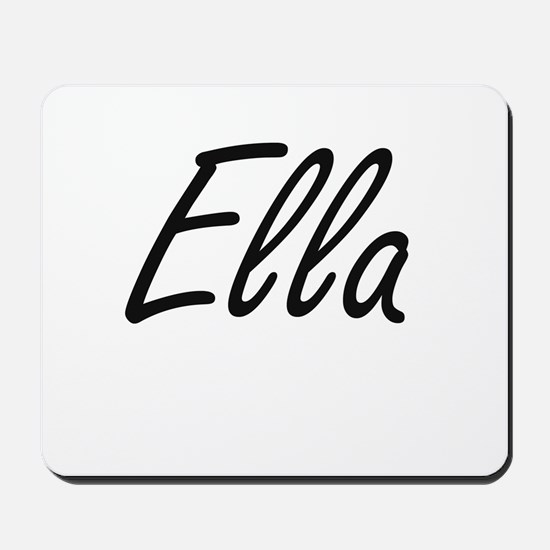 Ella artistic Name Design Mousepad